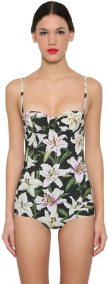 Dolce & Gabbana Printed Lycra One Piece Bathing Suit