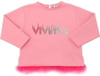 VIVETTA Milano Jersey Sweatshirt W/ Feathers