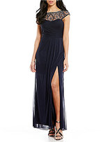 Xscape Evenings Beaded Illusion Neck Gown