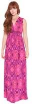 Olian Women's 'suzy' Print Maternity Maxi Dress