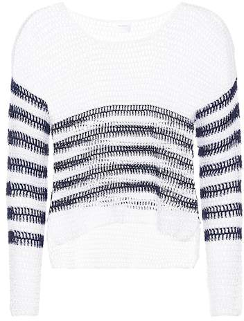 Anna Kosturova Sailor crocheted cotton sweater