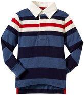 E-Land Kids Rugby Stripe (Toddler/Kid) - Estate Blue-3T