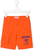 Moschino Kids logo cargo shorts