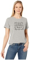 Life is Good Floral DWYL Crusher Tee (Heather Gray) Women's Clothing