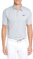Nike Men's 'Mobility Emboss' Golf Pique Polo