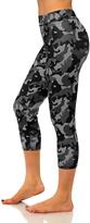 Black & Gray Camouflage Capri Leggings