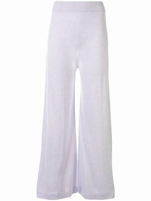 Agnona High-Waist Knitted Trousers
