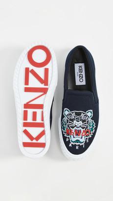 Kenzo K-Skate Slip On Tiger Sneakers