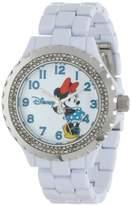 EWatchFactory Disney Women's W000500 Minnie Mouse Enamel Sparkle Bracelet Watch