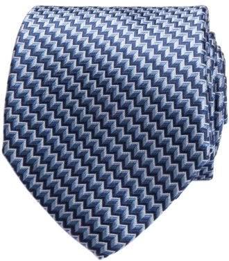 Geoffrey Beene Zig Zag Geometric Tie