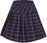 Urban CoCo Women's High Waist Pleated School Tartan Mini Plaid Skirts (L, )