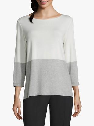 Betty & Co. Two Tone T-Shirt, Cream/Silver