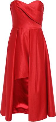 Black Halo Eve By Laurel Berman Caine Strapless Draped Satin Mini Dress