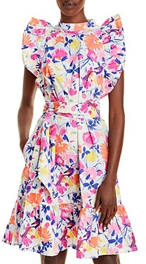 Banjanan Ruffle Sleeve Floral Mini Dress