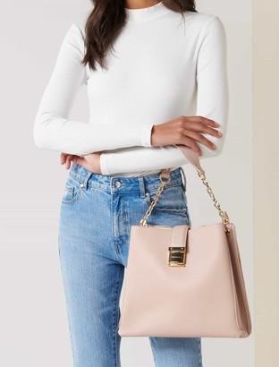 Forever New Clara Panelled Hobo Bag - Blush - 00