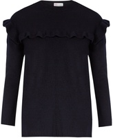 RED Valentino Ruffled wool-felt sweater