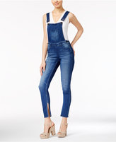 Dollhouse Juniors' Split-Leg Skinny Overalls