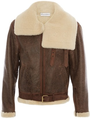 J.W.Anderson Shearling Collar Aviator Jacket