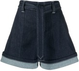 Chloé high waisted denim shorts