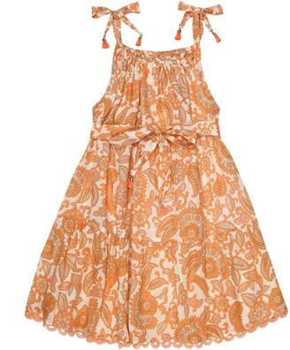 Zimmermann Kids Peggy printed cotton dress