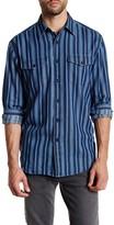 Pendleton Lewis Indigo Vertical Stripe Shirt