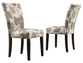 Homelegance Quinby Parson Floral Dining Chair Wood/Gray (Set of 2) - Inspire Q