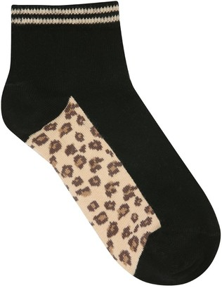 M&Co Teen leopard socks