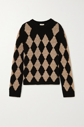 KHAITE Penny Argyle Cashmere-blend Sweater - Tan