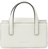 Marge Sherwood Square Mini Snake-Print Top Handle Bag