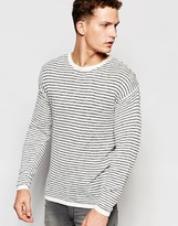 Selected Homme Lightweight Stripe Knitted Jumper