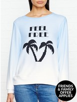 Wildfox Couture Feel Free Baggy Beach Jumper