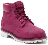 Timberland 6in Magenta Floral Classic Boot (Little Kid)