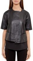 Ted Baker Losimia Short Leather Jacket