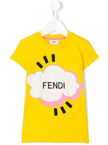 Fendi Cloud T-shirt - kids - Cotton/Spandex/Elastane - 3 yrs