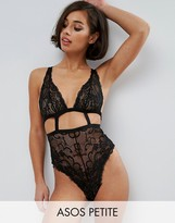 Asos Gia High Apex Lace Cut Out Body
