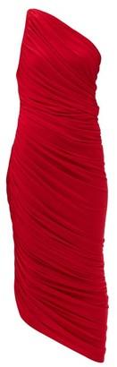 Norma Kamali Diana One-shoulder Ruched Midi Dress - Red