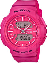 G-Shock Women's Analog-Digital Baby-g Pink Resin Strap Watch 43mm