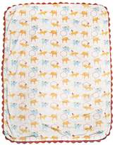 Kids Line Who's At The Zoo Velour Rick-Rack Blanket