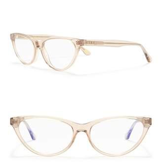 Cat Eye DIFF Eyewear Marley 53mm Blue Light Blocking Glasses