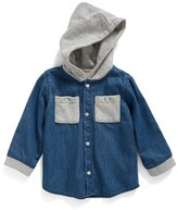 Infant Boy's Tucker + Tate Terry Chambray Hoodie