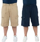 Loyalty And Faith Mens Plus King Size Cargo Multi Pocket Shorts Branded Bottoms