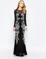 French Connection Aspen Mesh Maxi Dress