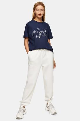 Topshop Womens Tall Navy Mont Blanc Print T-Shirt - Navy Blue