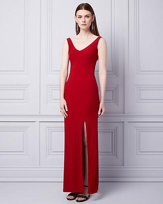 Le Château Knit V-Neck Gown