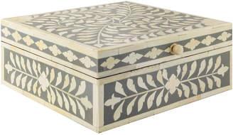 Wicklewood Leaf Floral Inlay Square Box