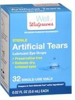 Walgreens Artificial Tears Vials 32 pk