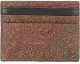 Etro patterned cardholder - men - Cotton/Calf Leather/Nylon/PVC - One Size