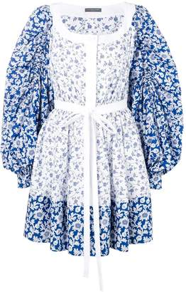 Alexander McQueen floral peasant dress