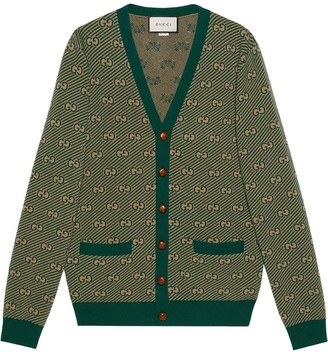 Gucci GG stripe knitted cardigan