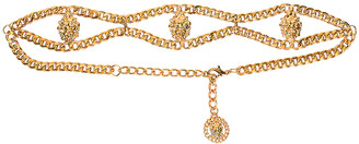 Alessandra Rich Gold Chain Lion Belt in Gold | FWRD